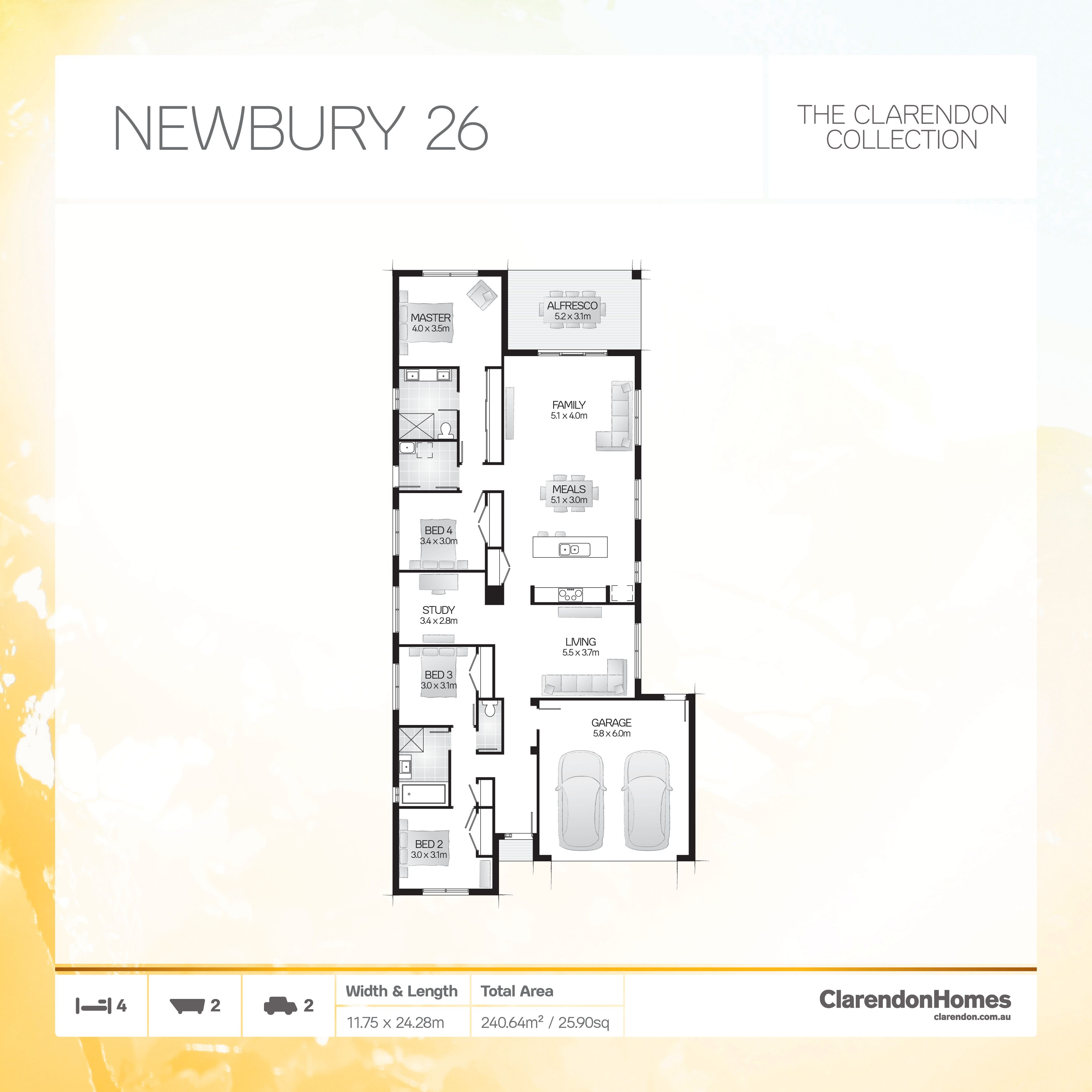 Clarendon Homes. Newbury 26. A flowing design of unparalleled beauty ...