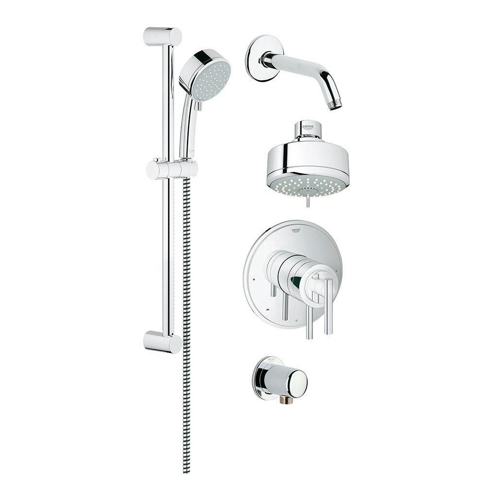 GROHE GrohFlex Timeless Dual Function Shower Set 4-Spray Shower ...