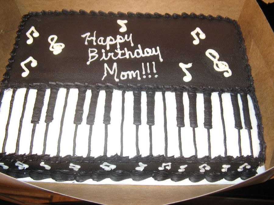Piano Sheet Cake Sheet Cake Cake Cake Decorating