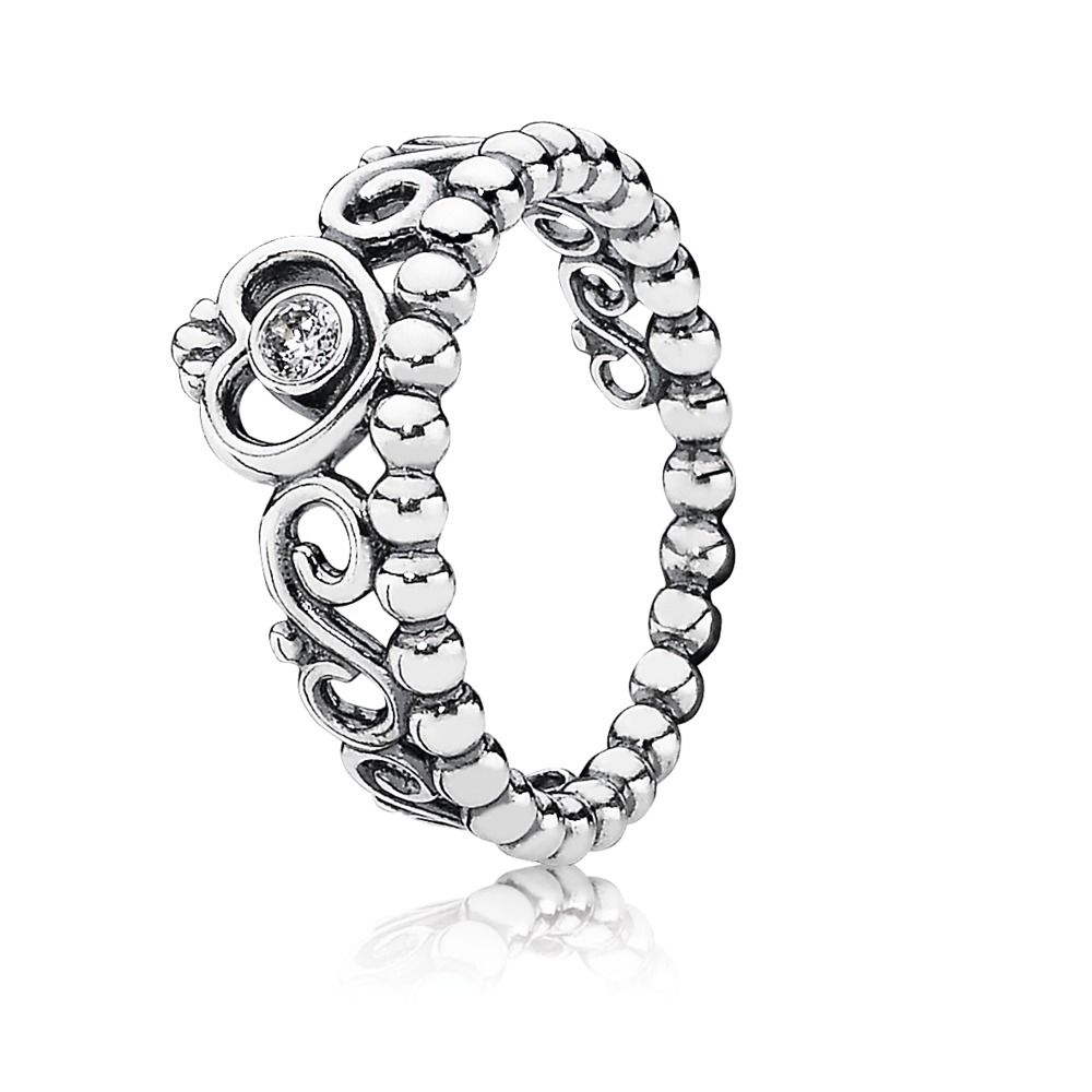 pandora anillo tiara plata