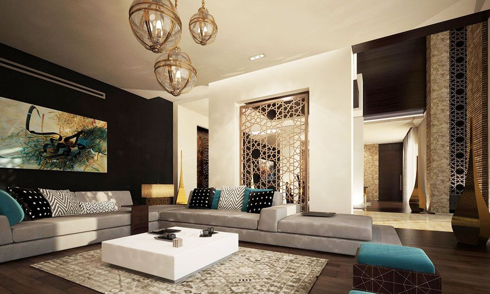 Lujo Marroqui Sunken Living Room Moroccan Living Room Living Room Design Inspiration