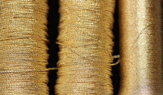 Benton /& Johnson Goldwork Twists-Gilt metal embroidery thread-many sizes avail