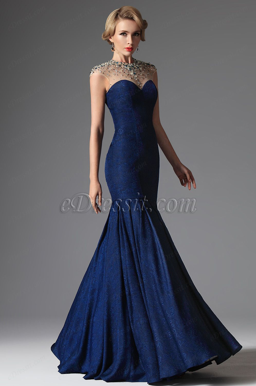 eDressit 2014 New Blue Sexy Crystal Beaded Evening Dress Formal Gown ...