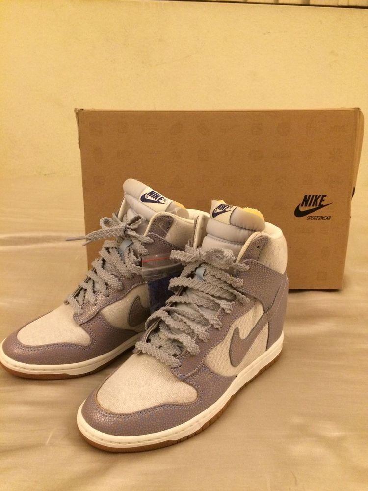 size 40 0e3a6 29b5e NEW Womens Nike Dunk Sky Hi Vintage Silver Ice Blue Wedges SZ 7 (  543257-001 )  Nike  FashionSneakers