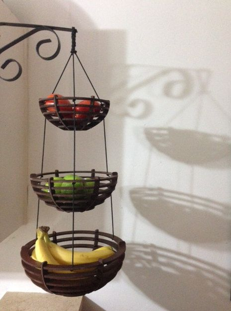 Wooden Three Tiered Hanging Fruit Basket By Backyardmillworks