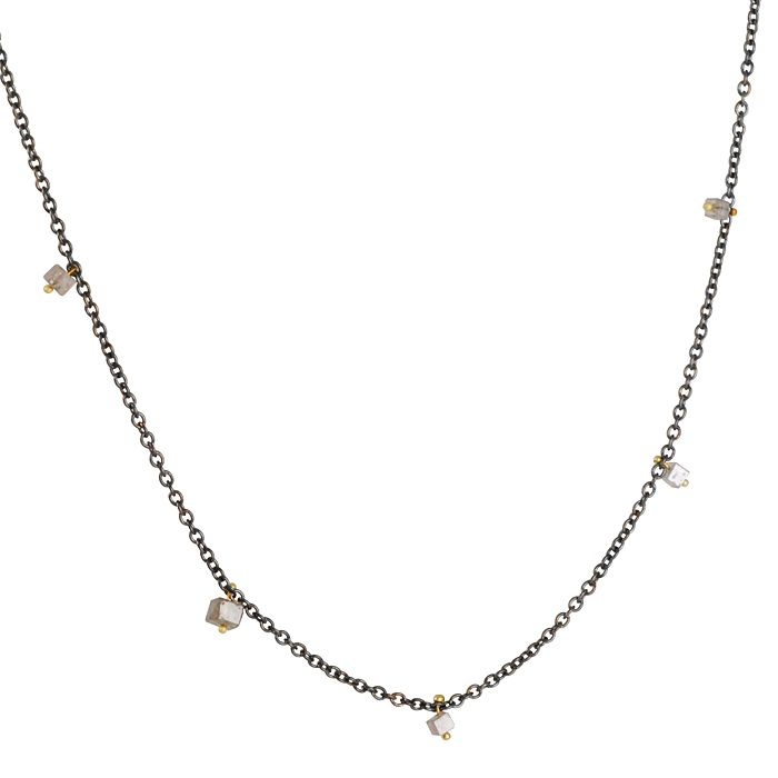 844d48b4e The Clay Pot :: Rebecca Overmann :: REBECCA OVERMANN- Floating Raw Diamond  Necklace