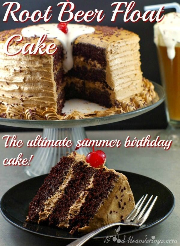 Root Beer Float Cake - Food Meanderings