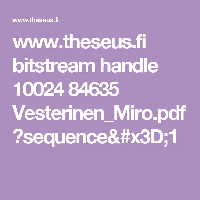 www.theseus.fi bitstream handle 10024 84635 Vesterinen_Miro.pdf?sequence=1