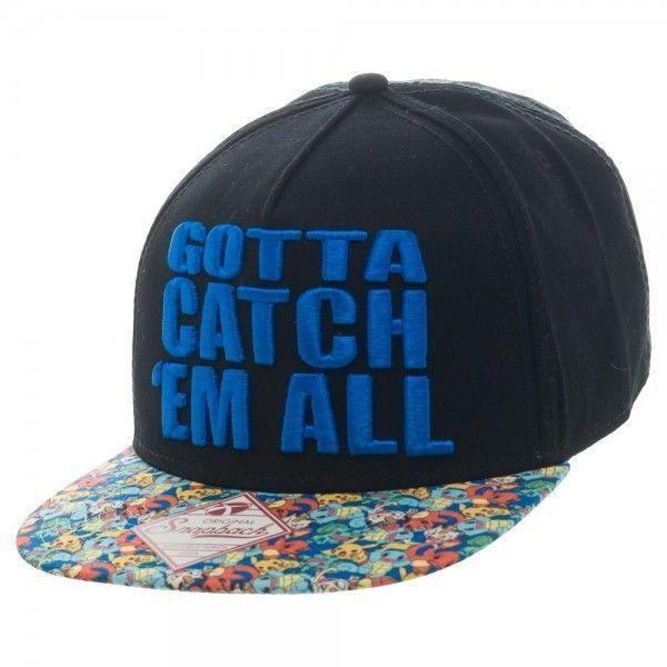 Pokemon Gotta Catch Em All Bioworld Black Baseball Cap Snapback Hat   Bioworld  BaseballCap a4f158ae44c8