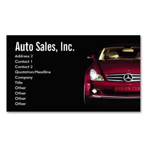 Car Sales Business Cards Zazzle Com Cars For Sale Free Business Card Templates Card Templates Free
