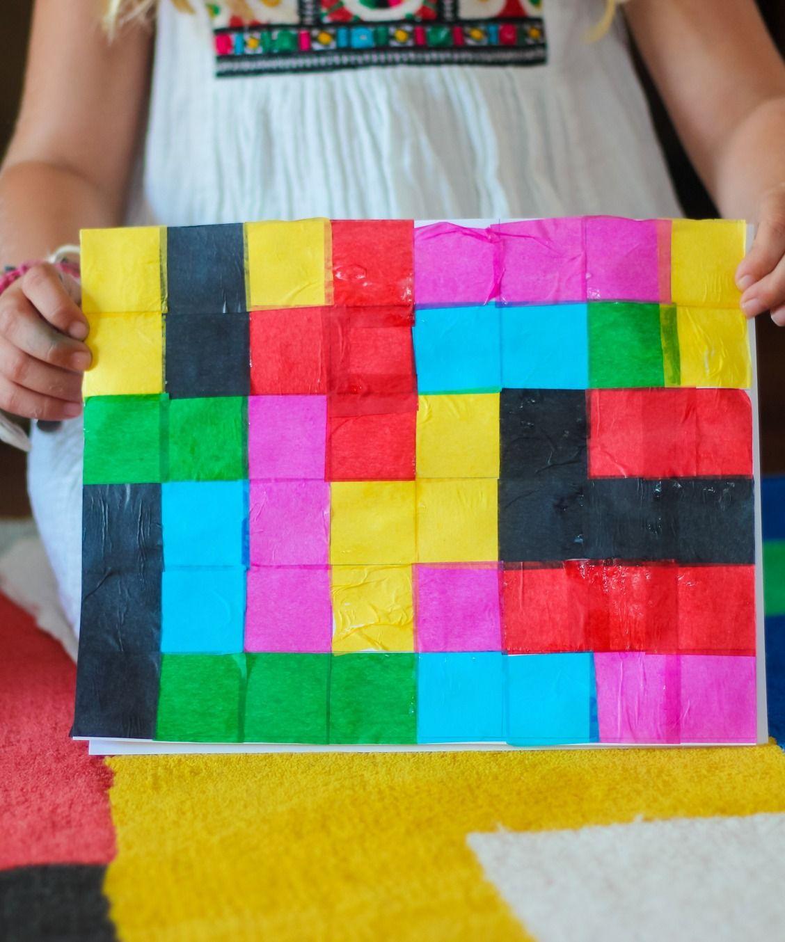 Pixel Art Kids Craft   Art kids, Craft and Art activities