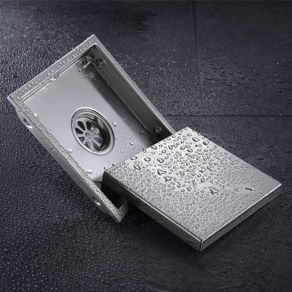 Free Shipping Tile Insert Square Floor Waste Grates Bathroom Shower Drain 110 X 110 Or 150x 150mm 304 Sta Shower Drain Stainless Steel Bathroom Bathroom Shower