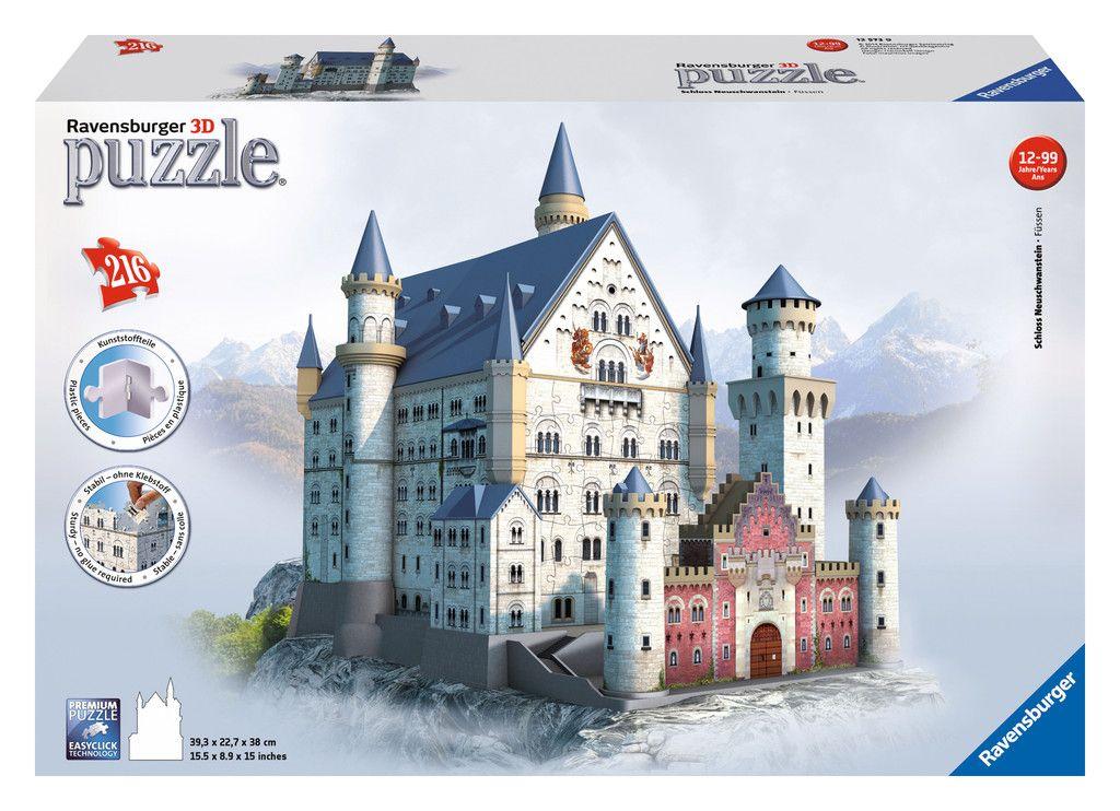 Schloss Neuschwanstein Ravensburger Puzzle Schloss Neuschwanstein Neuschwanstein 3d Puzzel