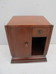 Antique French Art Deco nightstand # 09621