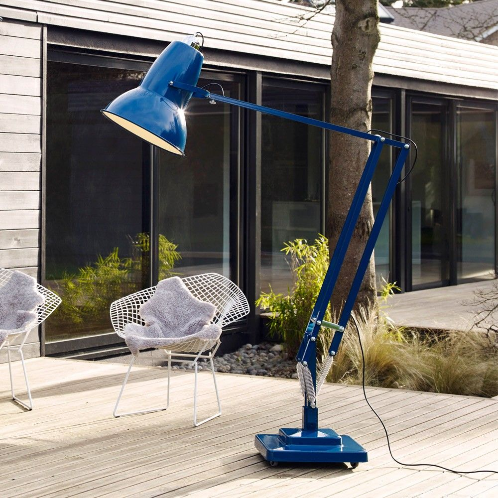 anglepoise original giant outdoor floor lamp gloss finish
