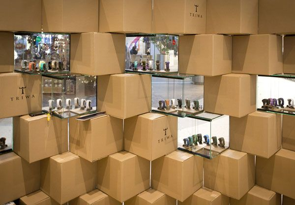 Cool Pop Up Store Made With Carton Boxes Pop Up Shops Pop Up