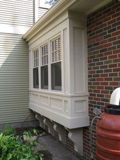Outside View Bay Window Bump Out With Panelling Window Seat On Inside
