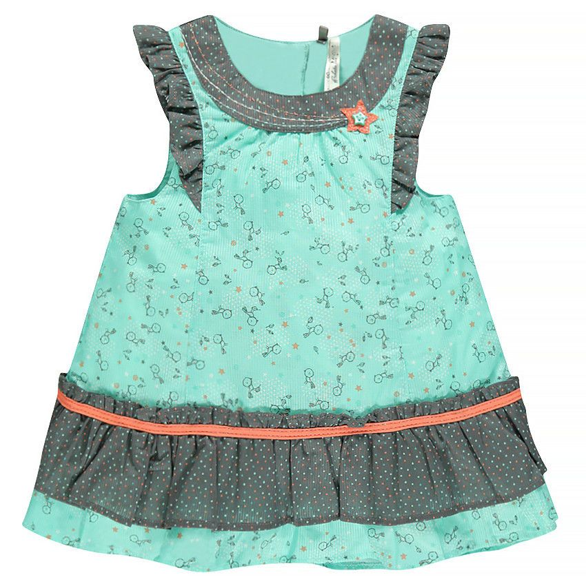 Print Dress with ruffles - EN Orchestra
