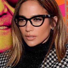 90ab45baad52 J Lo wearing Max Mara Cat Eye Glasses