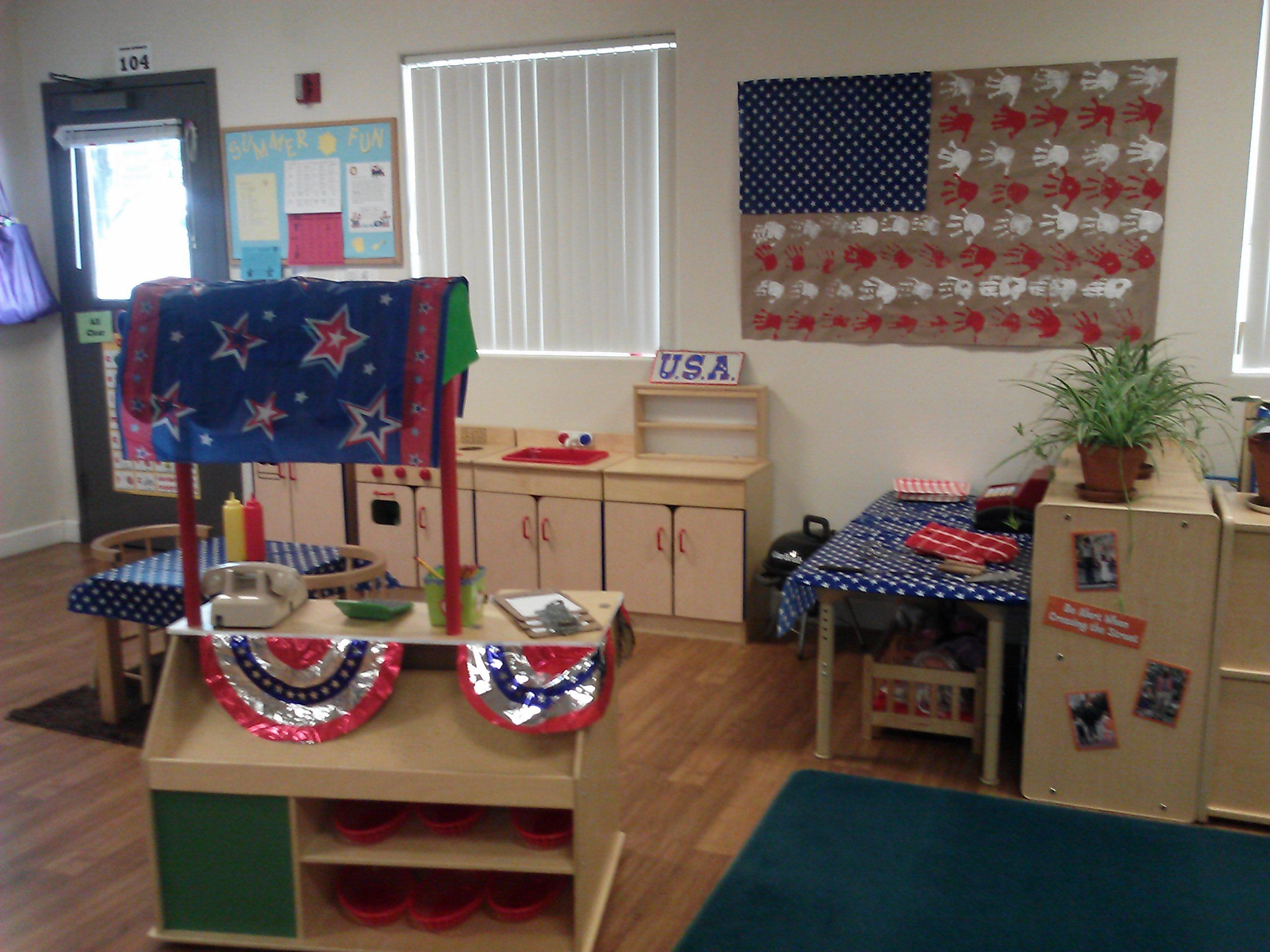 Dramatic Play Area Bbq Theme For The 4th Of July