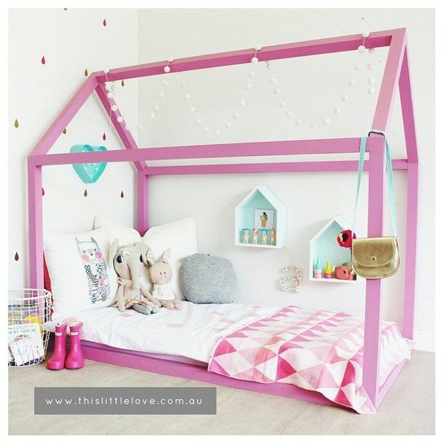 Cama casinha 30 inspira es para decora o de quarto for Cama kawaii
