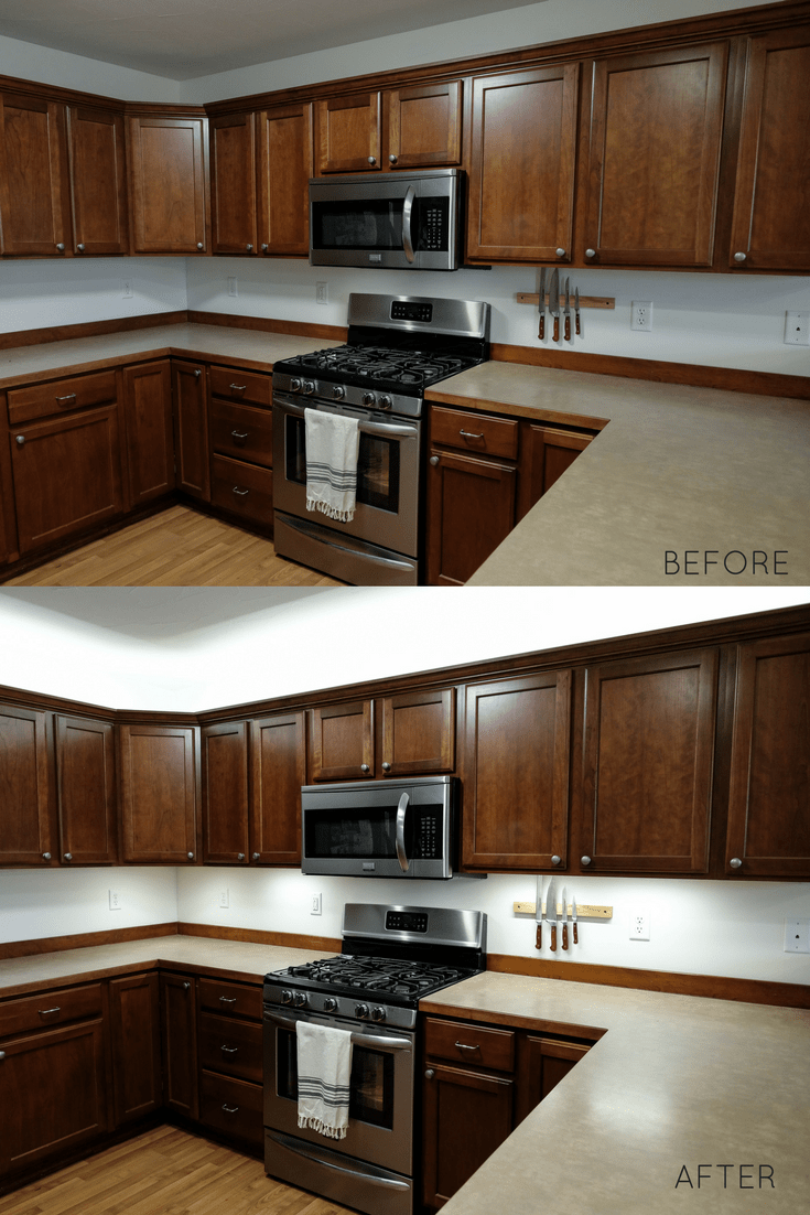 How To Add Kitchen Under Cabinet Lighting In Just 30 Minutes