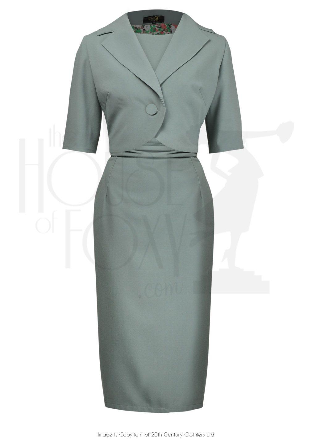 1960s Jackie O Dress Jacket Sage Outfits