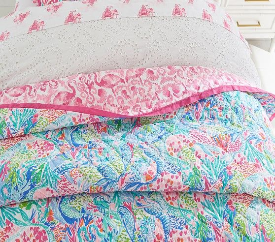 Lilly Pulitzer Mermaid Cove Quilt Mermaid Cove Quilts