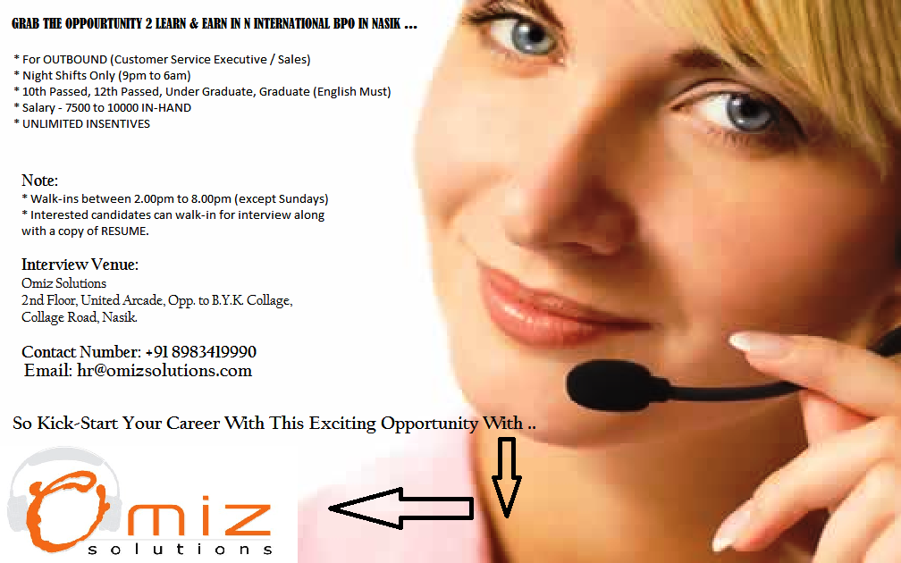 Urgent Openings For Graduates In Nasik .. Call center