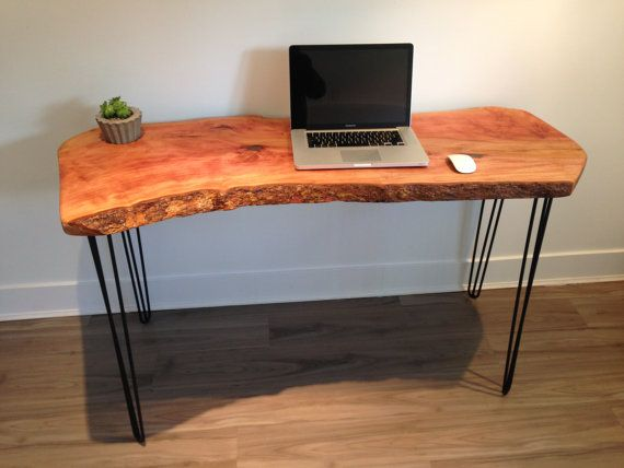 Live Edge Wood Desk Reclaimed Salvaged Wood-Modern by COOLWOODBC