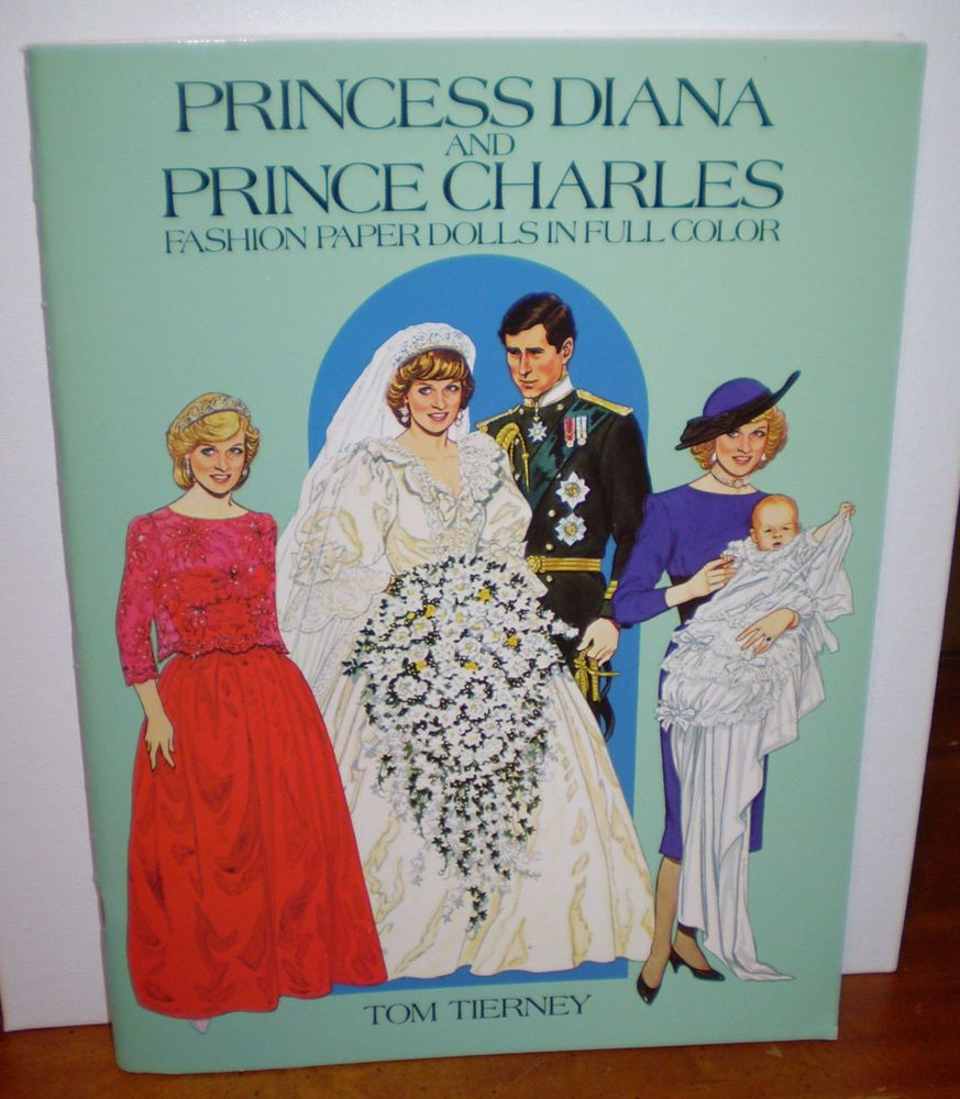 princess diana and prince charles fashion paper dolls in full color