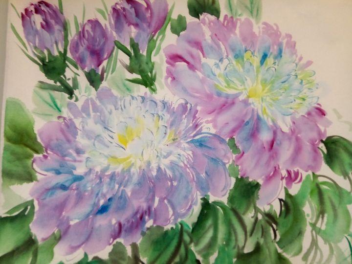 peony09262019-10 - sundongling watercolor  flower