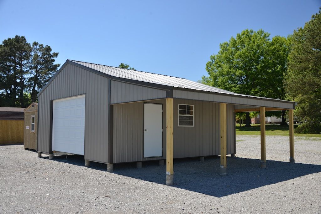 Pole Barn With Lean To