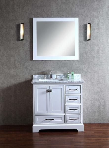 Newport 36-inch Single Sink Bathroom Vanity with Mirror - Still