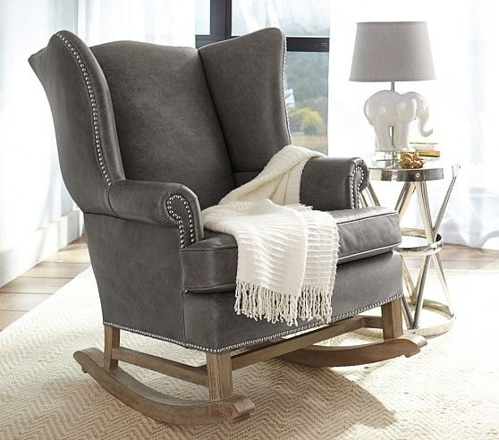 Thatcher Leather Rocker U0026 Ottoman | Pottery Barn Kids. Nursery  RockerNursery ChairsNursery ...