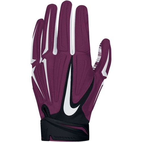 Nike Superbad 3 0 Men S Receiver Gloves Deep Maroon Football Gloves Gloves Football Accessories