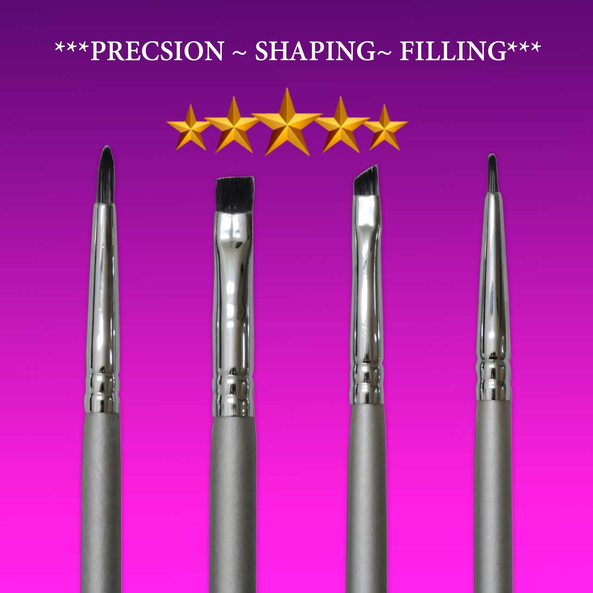 Eyeliner Brush Set Star Beauty Premium Brushes For