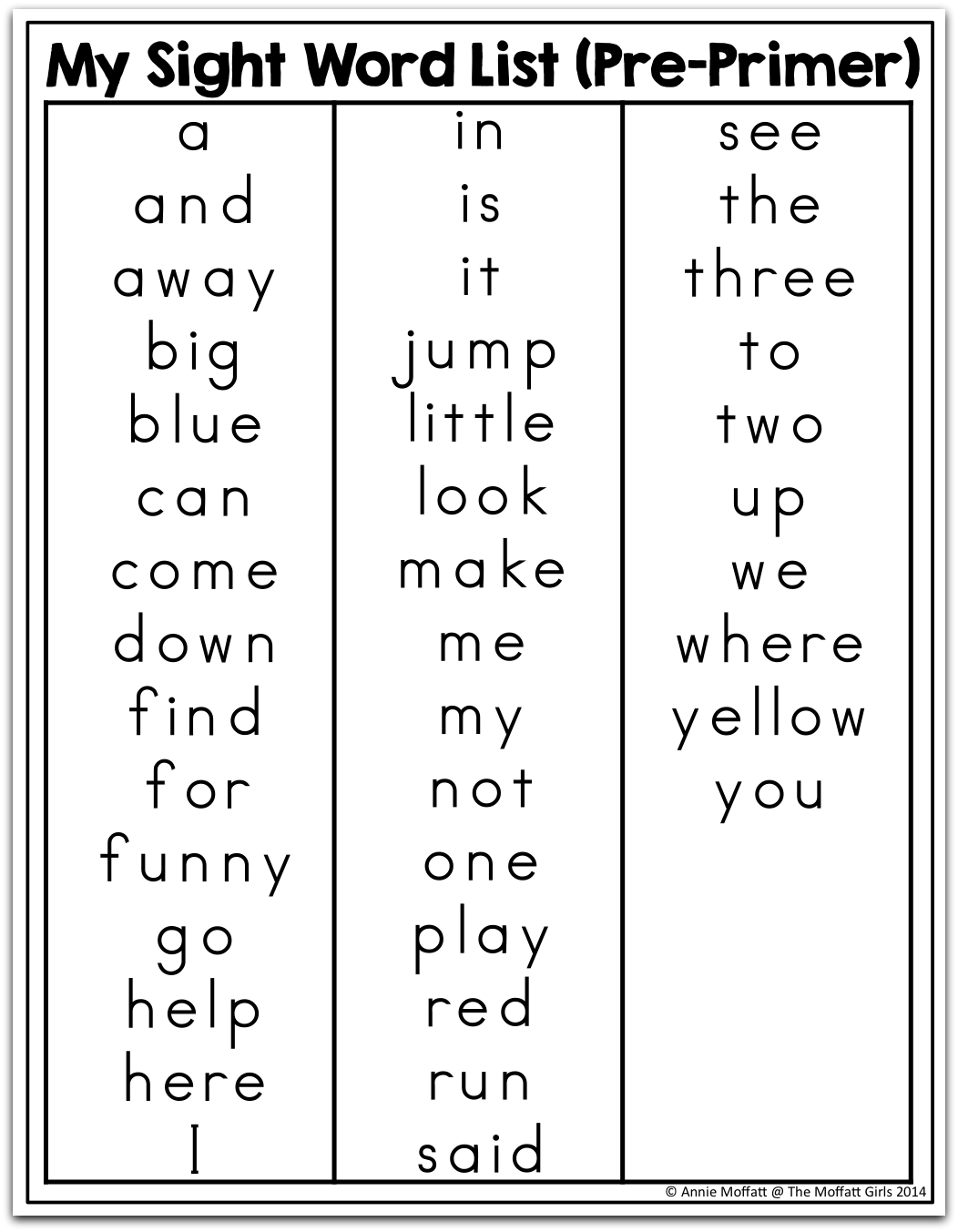 worksheet Preschool Sight Words how to help beginning or struggling writers succeed sight words list journal covers and