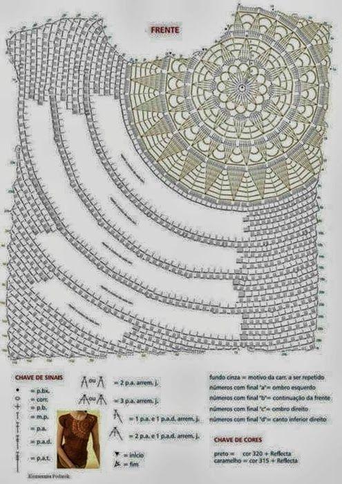 TRICO e uncinetto-madonna-mine: Camicette crochet (gancio) con i modelli
