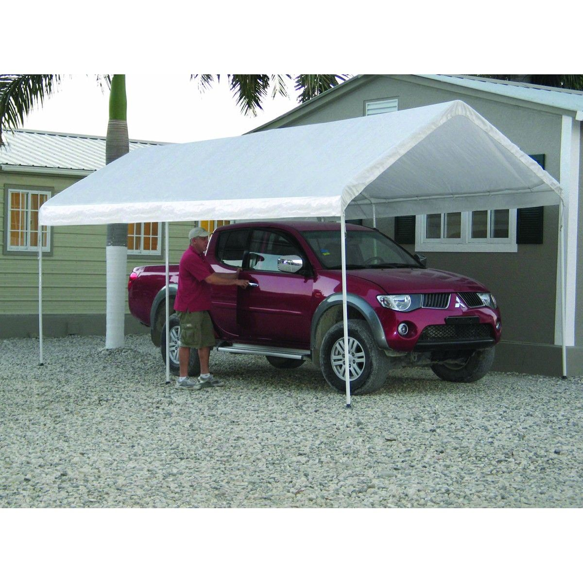 10 Ft. x 20 Ft. Portable Car Canopy | Canopy tent, Car ...