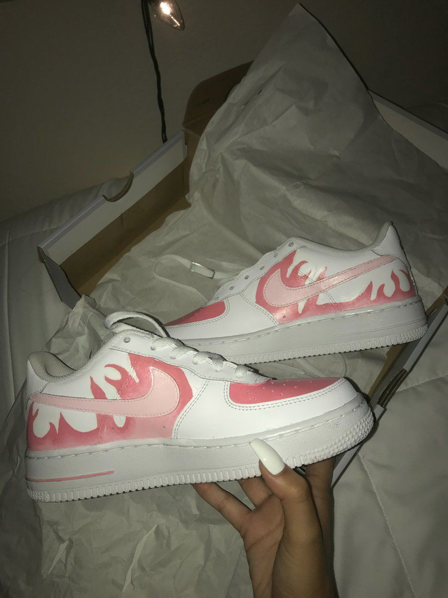 Nike Air Force 1 Custom Red LV Drip Size 12.5 New With Box