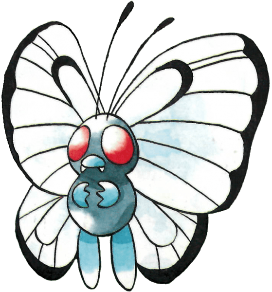 #Butterfree from the official artwork set for #Pokemon Red ...