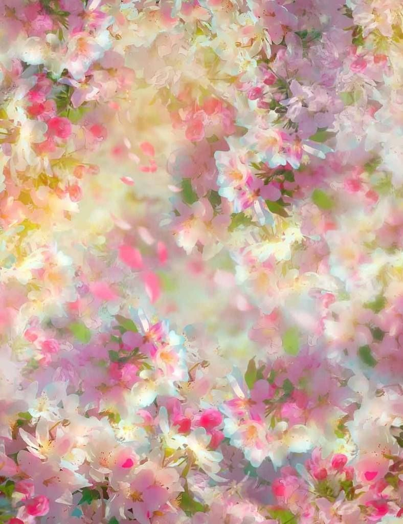 8x8FT Vinyl Wall Photography Backdrop,Floral,Herb Flowers Watercolors Background for Baby Shower Bridal Wedding Studio Photography Pictures