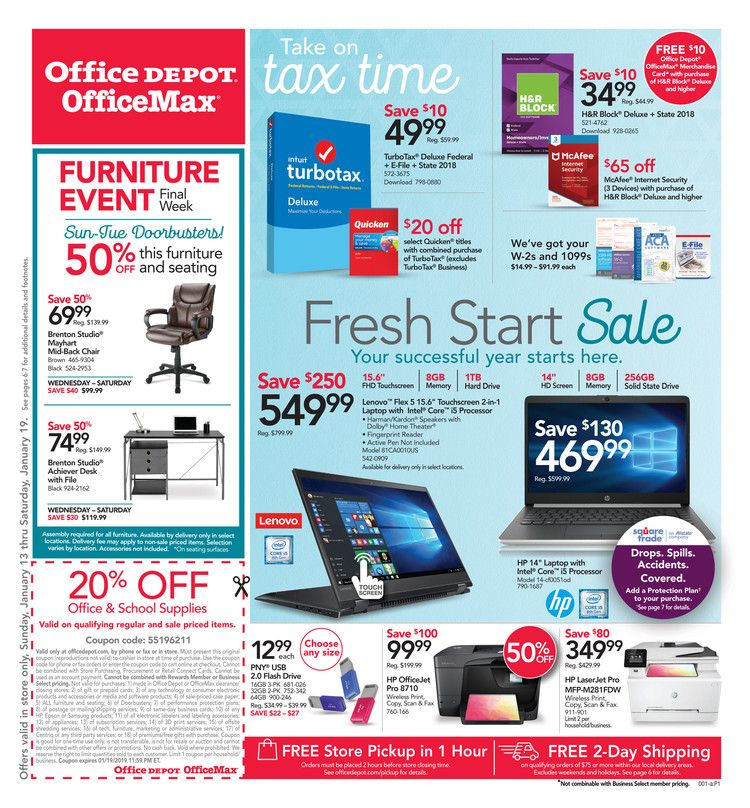 Office Depot Weekly Ad OfficeMax Ad July 7 13, 2019