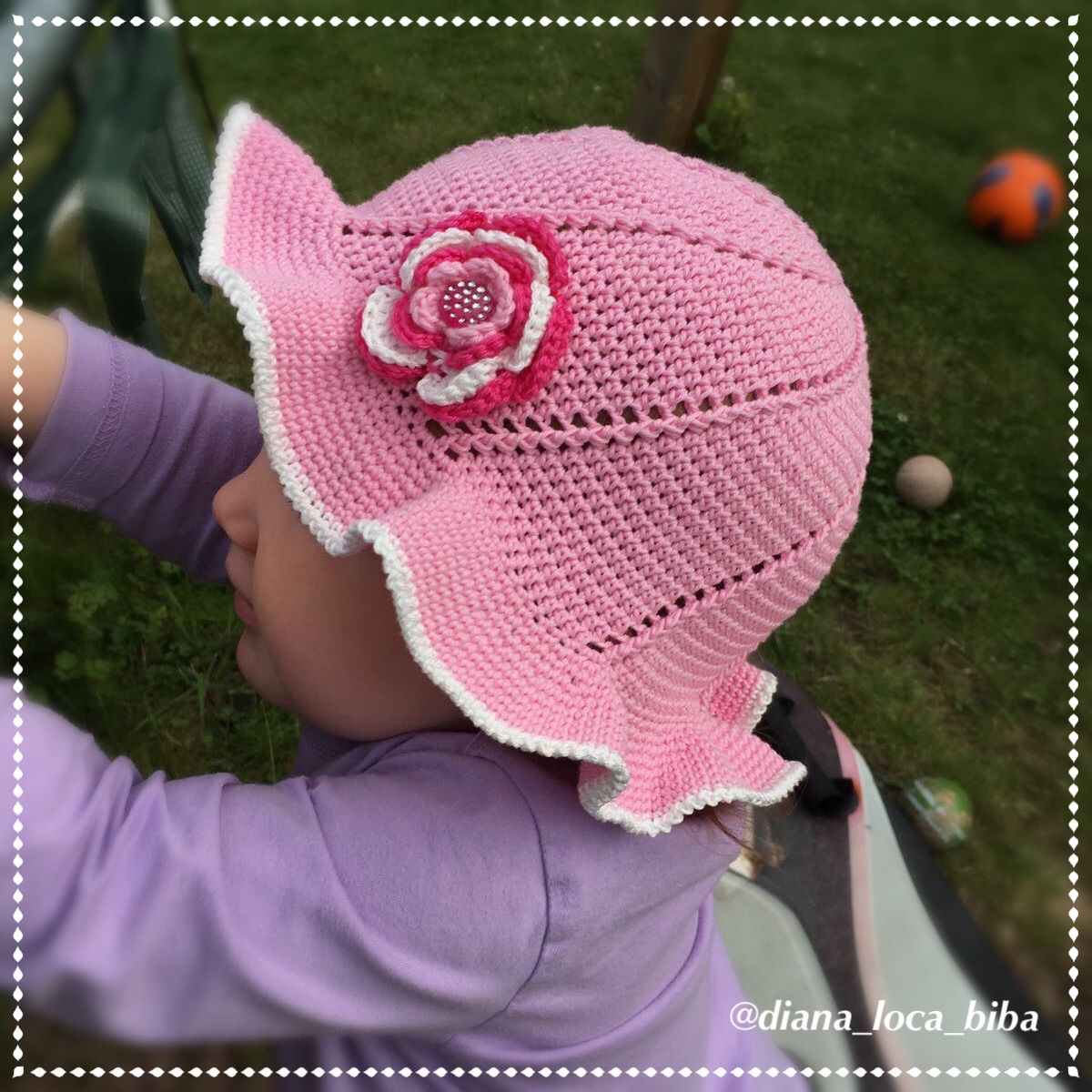 Summer hat for 1 to 3 years old girl You will need  Cotton yarn for ... 3a71e7a4f4