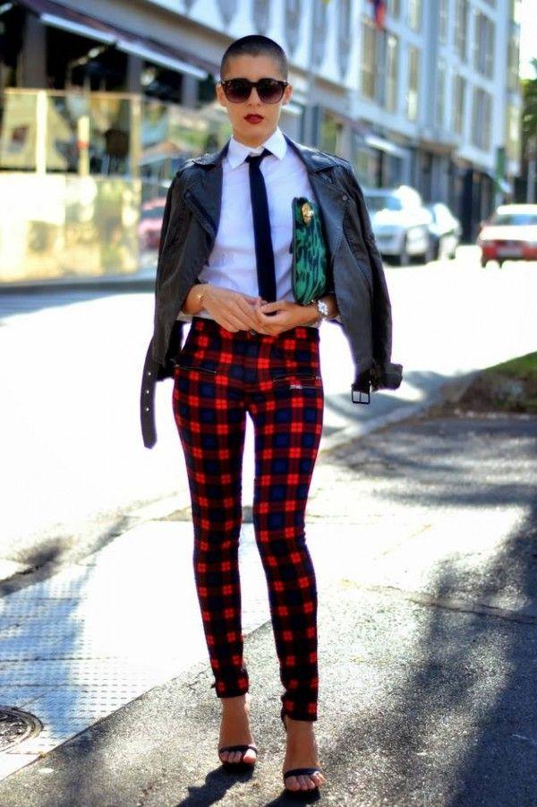 2013 Fall Winter Does Plaid All Over Fashion Plaid Pants