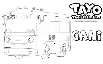 Mewarnai Gambar Karakter Gani Tayo The Little Bus Fishing