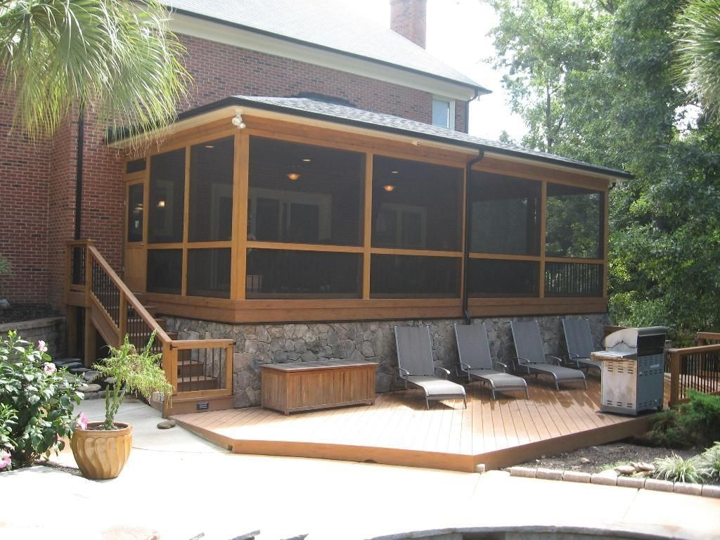 Ideas Screen Porch Panels Wood Stunning American Craftsman Design With Additional Cubic Screened 1024 X 768
