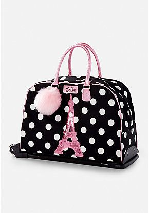 8b6181b6da Paris Polka Dot Rolling Luggage | Justice new do in 2019 | Girls ...