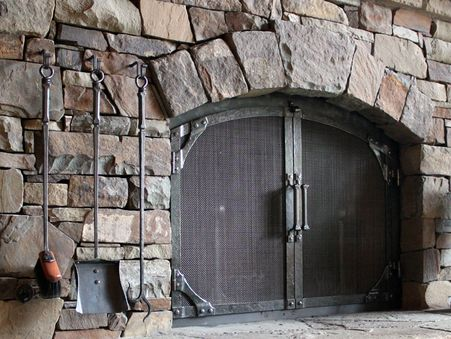 Hand Forged Fireplace Doors Is A Specialty Of Ponderosa Forge
